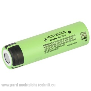 AKKU PANASONIC 18650 / Spannung 3,7 V 2200 mAh  für PARD  NV-007 Nachtsichtgerät / Art.Nr. 16007