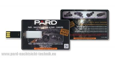 Bedienungsanleitung für PARD 007/007A  PREMIUM  SERVICE KARTE 32 GB - USB mit Video / Foto/ Bedienanleitung für  Gerät 007/007A    Art. Nr. 5006