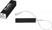 PARD  Power Bank 2200 mAh mit  PARD LOGO  Gravur externer Akku inkl. USB-Ladekabel aus Metall (Schwarz) Art.Nr.26007