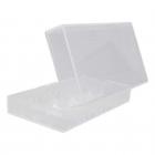 Akkubox Universal transparent  für Aufbewahrung von 2 x 18650 Akku - Zellen Art. Nr. 4002